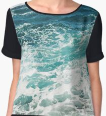 Blue Ocean Waves  Chiffon Top