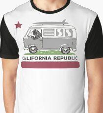 California Republic Bear Surfing Van Graphic T-Shirt