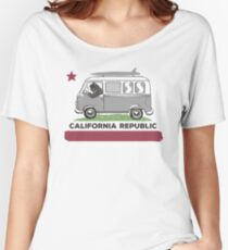 California Republic Bear Surfing Van Women's Relaxed Fit T-Shirt