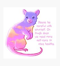 """""""Please Be Careful With Yourself"""" Sunset Rat Photographic Print"""