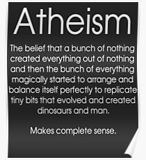 Atheism Cynical Definition  Poster