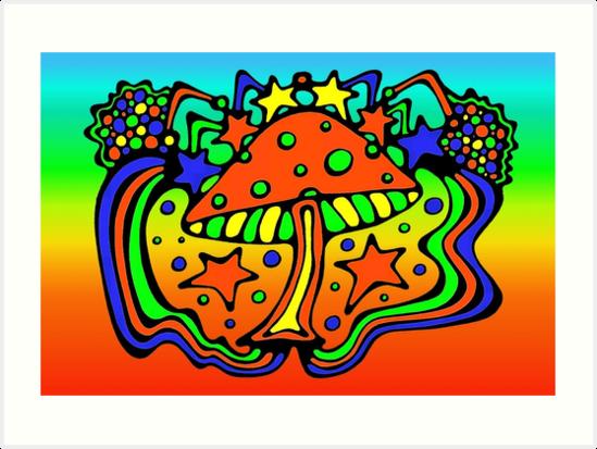 Dancing Mushroom by Jan Landers