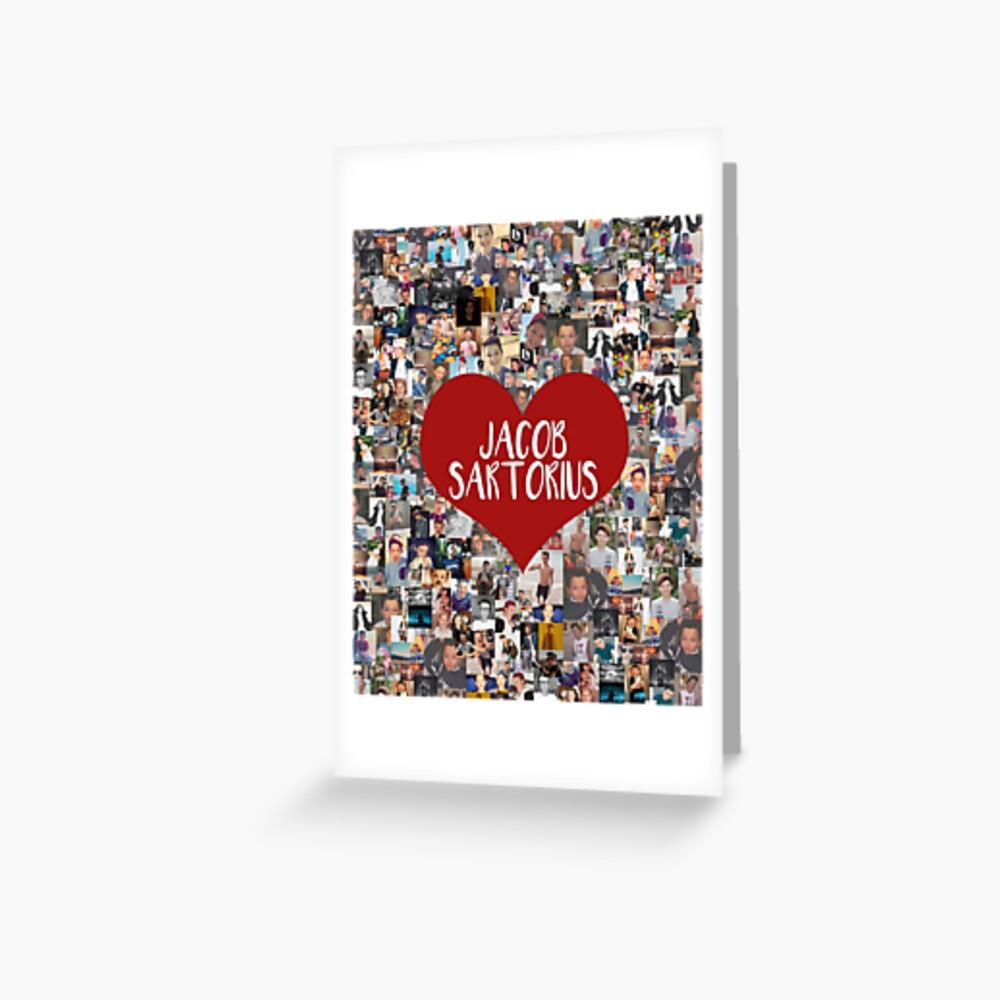Ich liebe Jacob Sartorius Grußkarte