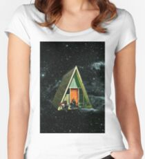 A house in space Women's Fitted Scoop T-Shirt