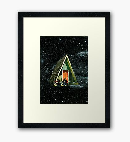 A house in space Framed Print