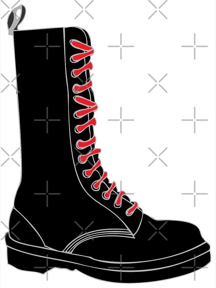 SchnürsenkelnskinheadLeinwanddruck Roten Mit Mit Stiefel Stiefel 3l1JuTF5Kc