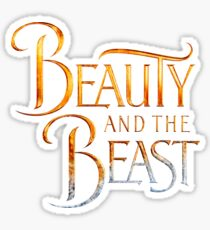 Beauty and the Beast (sticker) Sticker