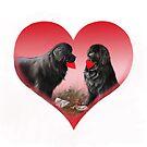 Newfie valentine heart by Patricia Reeder Eubank