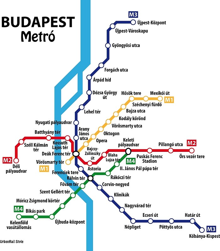 Budapest metro network Canvas Prints by UrbanRail Redbubble