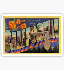 Vintage California Travel Postcard Sticker