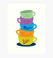 Mugs, Gilmore Girls Art Print