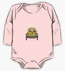Flowers On Wheels One Piece - Long Sleeve