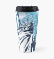 Statue Liberty 4th of July Fireworks Travel Mug