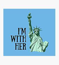 Freiheitsstatue: Ich bin mit ihr Fotodruck