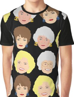 The Golden Girls Patterned Portraits Graphic T-Shirt