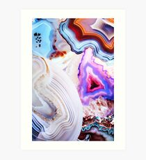 Agate Rocks, Slices of Earth Art Print
