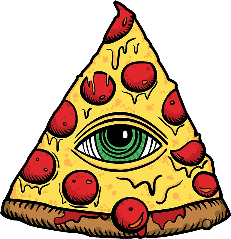 Illuminati pizza slice by vexxr