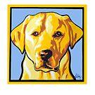 YELLOW LABRADOR RETRIEVER DOG by Pat McNeely