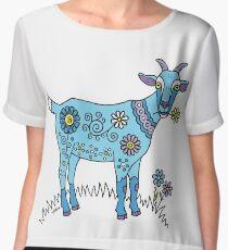 Blue Goat Chiffon Top