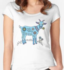 Blue Goat Women's Fitted Scoop T-Shirt