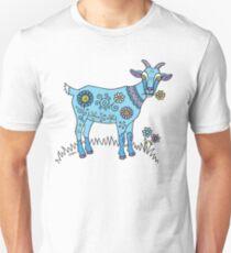 Blaue Ziege Unisex T-Shirt
