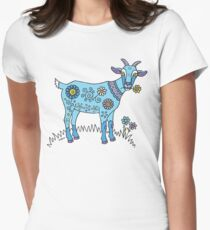 Blue Goat Womens Fitted T-Shirt