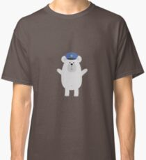 Happy Polar Bear Officer Classic T-Shirt