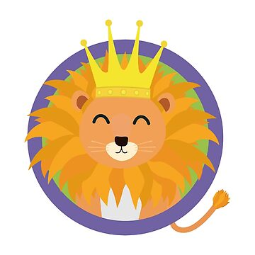 Happy Lion with Crown by ilovecotton