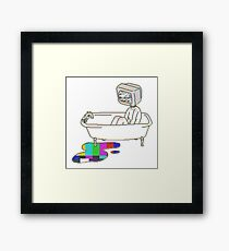 TV Bath Framed Print