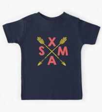 Golden Xmas Arrows Kids Tee