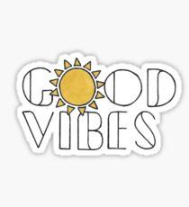 Good Vibes Sun Sticker