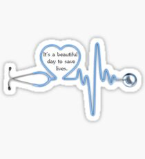 Stethoscope Heart Rhythm Sticker