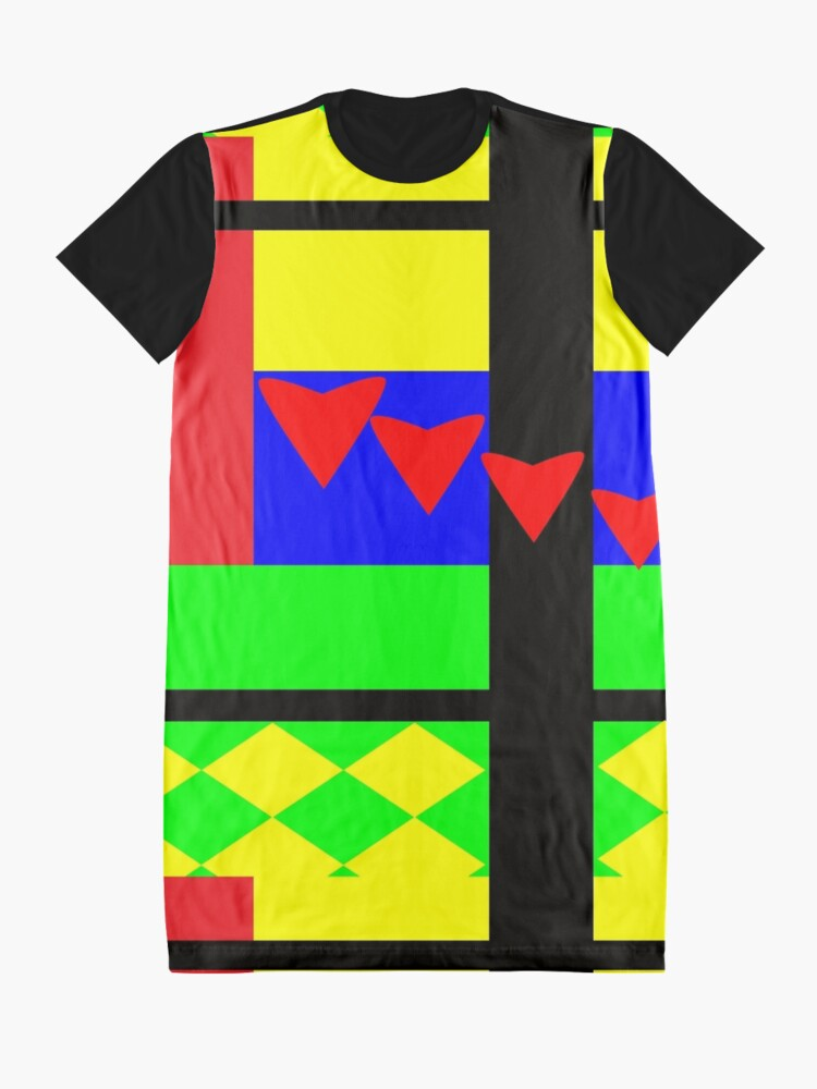 Alternate view of Fun with Color by Julie Everhart Graphic T-Shirt Dress