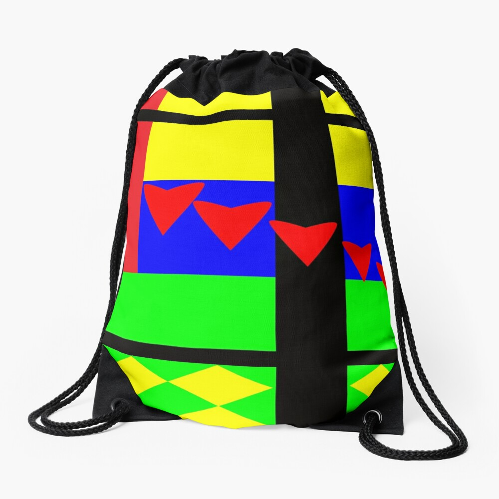Fun with Color by Julie Everhart Drawstring Bag