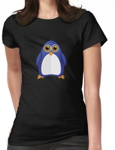 Blue Penguin 2 Womens Fitted T-Shirt