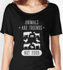 Animal Are Friends Not Food - Vegans Vegetarians Women's Relaxed Fit T-Shirt