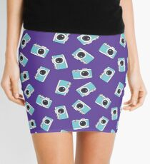 photocamera doodle pattern Mini Skirt