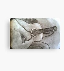 Guitar practice Canvas Print