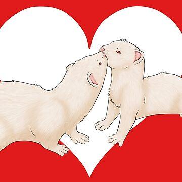Valentine's Ferret by Fennic