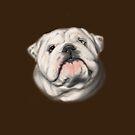 White English bulldog by Patricia Reeder Eubank