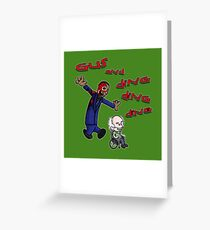 Gus and Hector Greeting Card