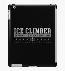 Ice Climber - Vintage - Black iPad Case/Skin