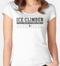 Ice Climber - Vintage - White Women's Fitted Scoop T-Shirt