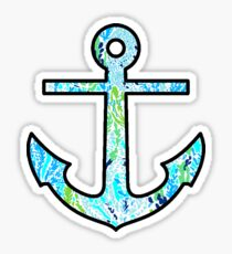 Lilly Seaweed Anchor Sticker