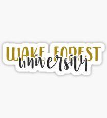 Wake Forest University - Style 1 Sticker