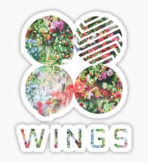 WINGS BTS FLORAL Sticker