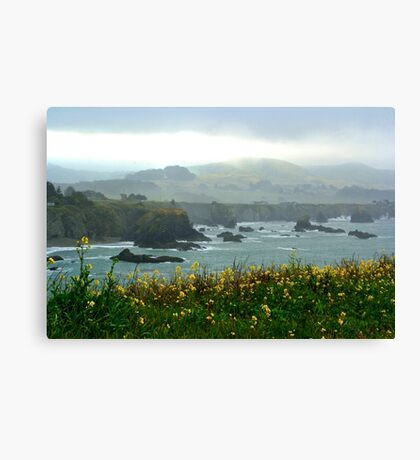 Cliffs in the Mist Canvas Print
