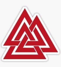 Valknut red Sticker