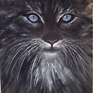 Blue Eyes the Cat by lizzyforrester