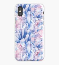 Watercolor crystals pattern iPhone Case/Skin